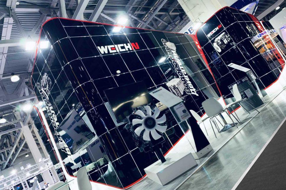 Weichai graphic stand